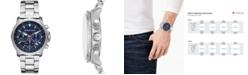 Michael Kors Men's Chronograph Cortlandt Stainless Steel Bracelet Watch 42mm