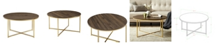 """Walker Edison 36"""" Coffee Table with X-Base"""