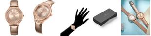"Timothy Stone Women's 'Parker"" Roman Numeral Vegan Leather Strap Watch"