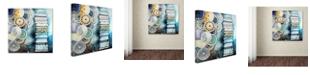 "Trademark Global Oxana Ziaka 'Kipa' Canvas Art - 14"" x 14"" x 2"""