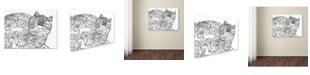 "Trademark Global Oxana Ziaka 'Leo Cat 2' Canvas Art - 19"" x 14"" x 2"""