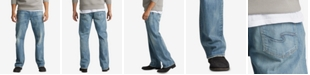 Silver Jeans Co. Mens Gordie Straight-Fit Big and Tall Stretch Jeans