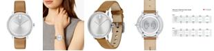 Movado Women's Swiss BOLD Camel Leather Strap Watch 34mm