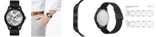HUGO Men's #Move Black Ion-Plated Stainless Steel Mesh Bracelet Watch 42mm