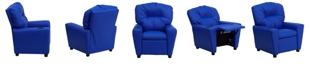 Flash Furniture Contemporary Blue Vinyl Kids Recliner With Cup Holder