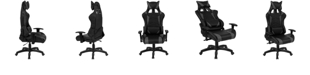 Flash Furniture Cumberland Comfort Series High Back Black And Gray Executive Reclining Racing/Gaming Swivel Chair With Adjustable Lumbar Support