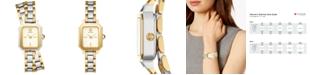 Tory Burch Women's Robinson Two-Tone Stainless Steel Double Wrap Bracelet Watch 22mm