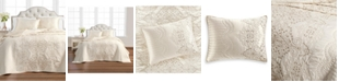 Martha Stewart Collection Column Embroidery Twin Bedspread, Created for Macy's