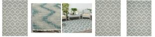 "Safavieh Courtyard Gray and Blue 5'3"" x 7'7"" Area Rug"
