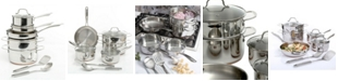 Gibson Oster Cuisine Kellerton 10 Piece Cookware Set with Copper Accents