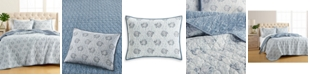 Martha Stewart Collection Fish Quilt and Sham Collection, Created for Macy's