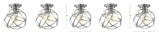 JONATHAN Y Alba Metal Orb LED Flush Mount