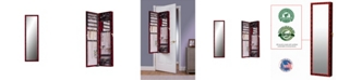 Mirrotek Plaza Astoria Over The Door Wall Mounted Jewelry Storage Armoire with Mirror