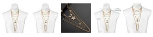 Nicole Miller Multi-Row Star Statement Necklace