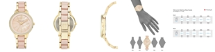 Anne Klein Women's Gold-Tone Blush Link Bracelet Watch 37mm