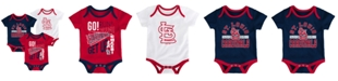 Outerstuff Baby St. Louis Cardinals Newest Rookie 3 Piece Bodysuit Set