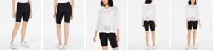 Bar III Pull-On Bike Shorts, Created for Macy's