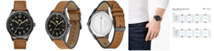 Lacoste Men's Continental Tan Leather Strap Watch 43mm