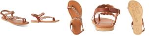 Rampage Little & Big Girls Cognac & Gold Braided Sandals