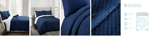 Lush Decor Ava Diamond Oversized Cotton 3Pc king Quilt Set