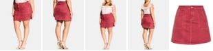City Chic Trendy Plus Size Breezy Denim Mini Skirt