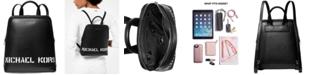 Michael Kors Saylor Crossgrain Leather Backpack