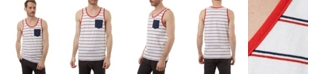 PX Striped Tank with Chest Pocket