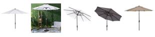 Safavieh Ortega 9' Auto Tilt Crank Umbrella