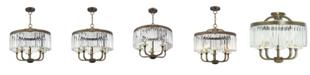Livex Ashton 5-Light Convertible Chandelier/Ceiling Mount