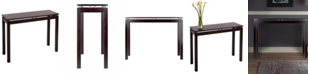 Winsome Wood Linea Console/Hall Table with Chrome Accent