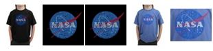 LA Pop Art Big Boy's Word Art T-Shirt - NASA's Most Notable Missions