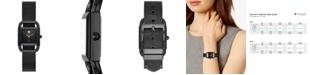 Tory Burch Women's Phipps Black-Tone Stainless Steel Mesh Bracelet Watch 24mm