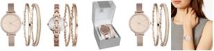 INC International Concepts INC Women's Rose Gold-Tone Bangle Bracelet Watch 34mm & Matching Bracelets Set, Created for Macy's
