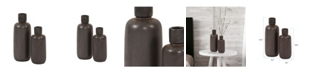 Howard Elliott Graphite Ceramic Bottle Vase Set