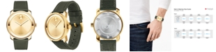 Movado Men's Swiss Bold Green Leather Strap Watch 42mm