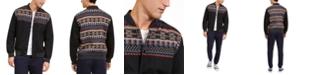 American Rag Men's Jacquard Blocked Jacket, Created For Macy's
