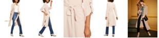 INC International Concepts I.N.C. Belted Draped Trench Coat, Created for Macy's