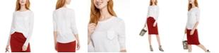 INC International Concepts I.N.C. Cotton Rhinestone Pocket Top, Created For Macy's