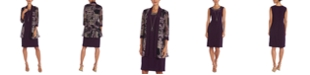 R & M Richards Petite Dress, Puff-Print Jacket & Necklace