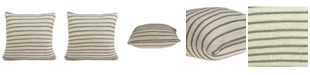 Parkland Collection Tanzi Transitional Tan Pillow Cover with Polyester Insert