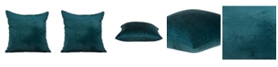 Parkland Collection Bento Transitional Teal Solid Pillow Cover