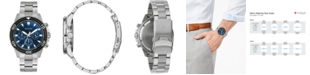 Bulova Men's Chronograph Stainless Steel Bracelet Watch 42mm, Created for Macy's