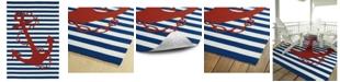 """Kaleen Sea Isle SEA01-22 Navy 7'6"""" x 9' Area Rug"""