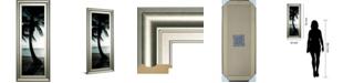 """Classy Art Cool Bimini Palms Il by Susan Bryant Framed Print Wall Art - 18"""" x 42"""""""