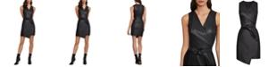 BCBGMAXAZRIA Layla Faux-Leather Sheath Dress
