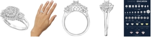 Macy's Diamond Multi-Halo Engagement Ring (1 ct. t.w.) in 14k White Gold