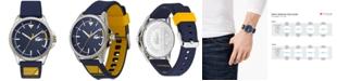 Lacoste Men's Cap Marino Blue Silicone Strap Watch 44mm