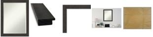 "Amanti Art Rustic Plank Framed Bathroom Vanity Wall Mirror, 21.25"" x 27.25"""