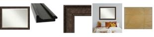 "Amanti Art Ridge Framed Bathroom Vanity Wall Mirror, 45.5"" x 35.50"""