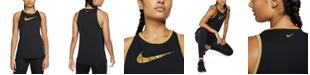 Nike Women's Dri-FIT Glam-Logo Training Tank Top